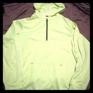 Lime green tek gear hoodie